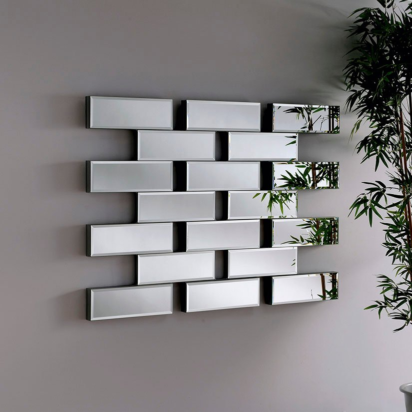 Maze Glass Contemporary Rectangular Mirror