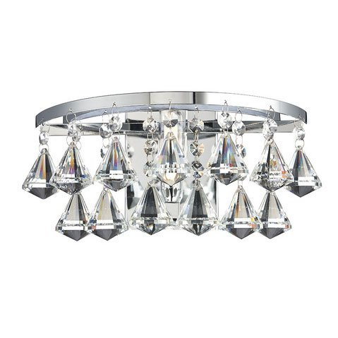 Fringe Single Light Polished Chrome Crystal Wall Bracket