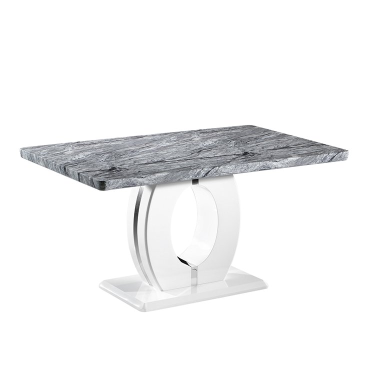 Miranda Grey Marble & Chrome 1.5m Dining Table