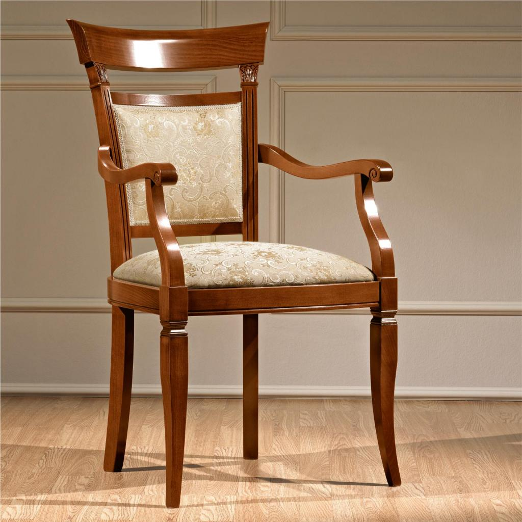 Treviso Ornate Cherry Wood Carver Dining Chair