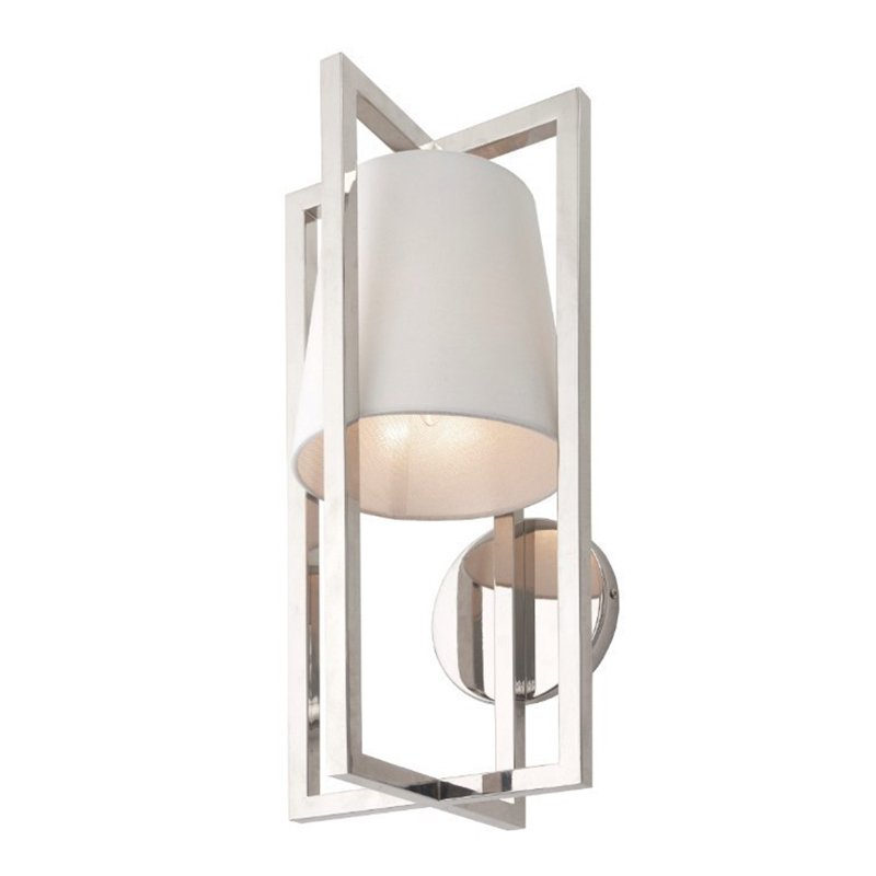 Hurricane Nickel Wall Light