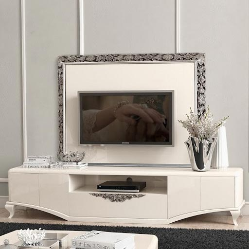 Monaco High Gloss TV Unit With Plasma Display