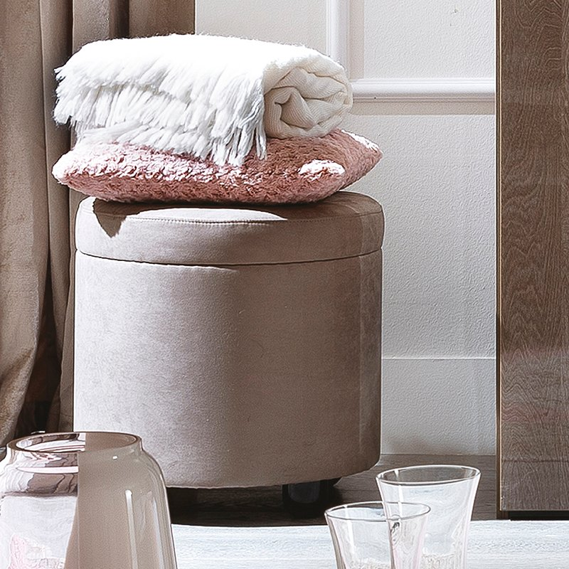 Caligula Platinum Silver Birch Footstool With Castors