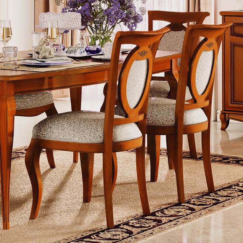 Fabrina Walnut Upholstered Dining Chair
