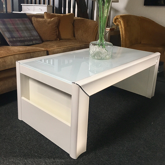 Minton Ivory High Gloss Coffee Table