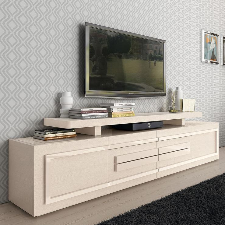 Century High Gloss or Wood Veneer Lower TV Unit