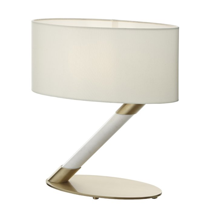 Chloe Marble Antique Brass Table Lamp
