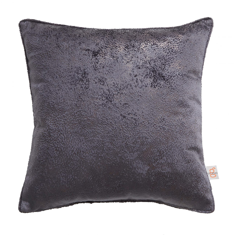 Navarra Slate Velvet Square Cushion