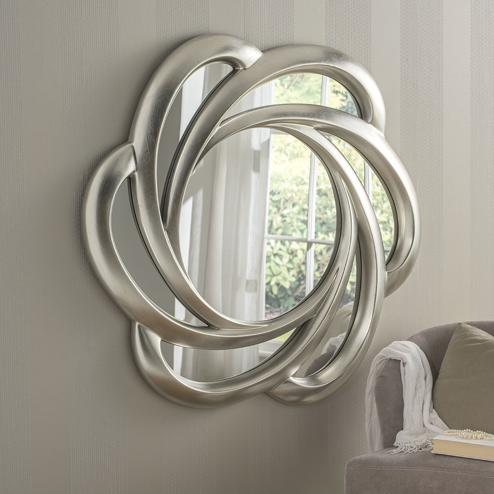Pretzel Silver Leaf Contemporary Mirror