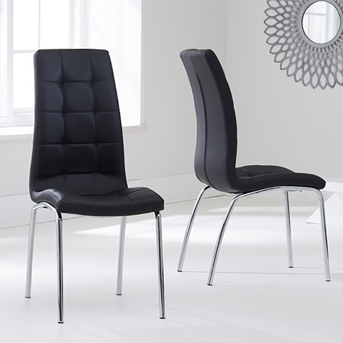 California Black Faux Leather Dining Chair