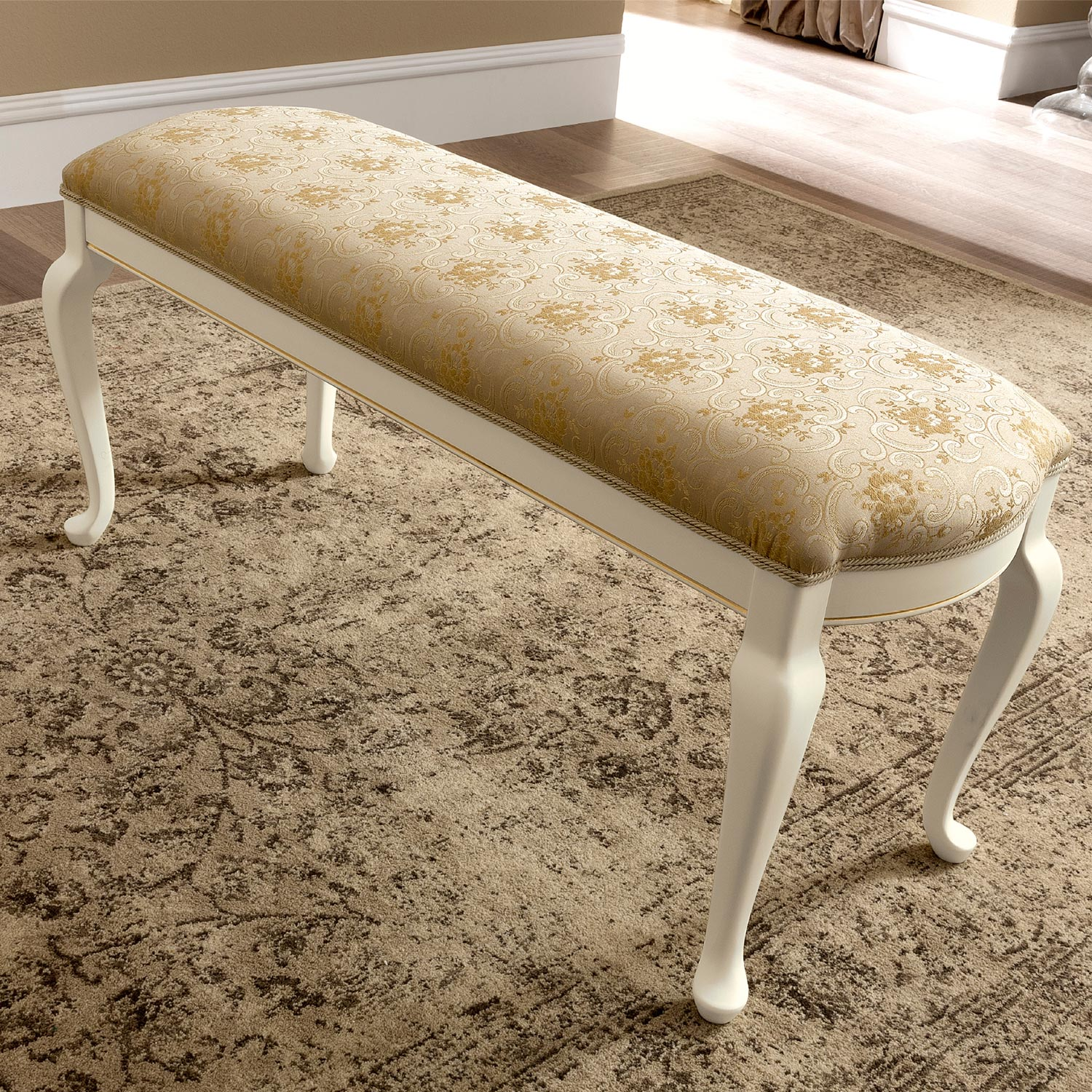 Treviso Ivory Ash Dressing Table Bench