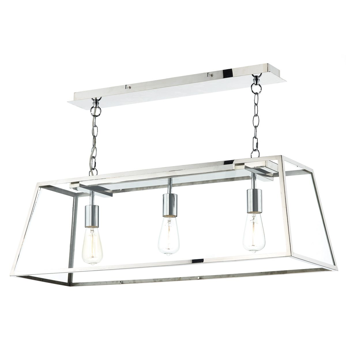 Academy 3 Bulb Stainless Steel Pendant Light