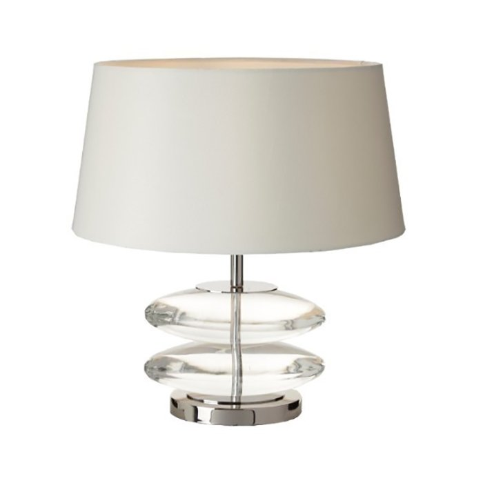 Kardia Crystal Nickel Table Lamp