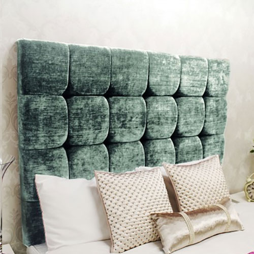 Bespoke Sophia Deep Set Cubic Crushed Velvet Headboard (Various Options)