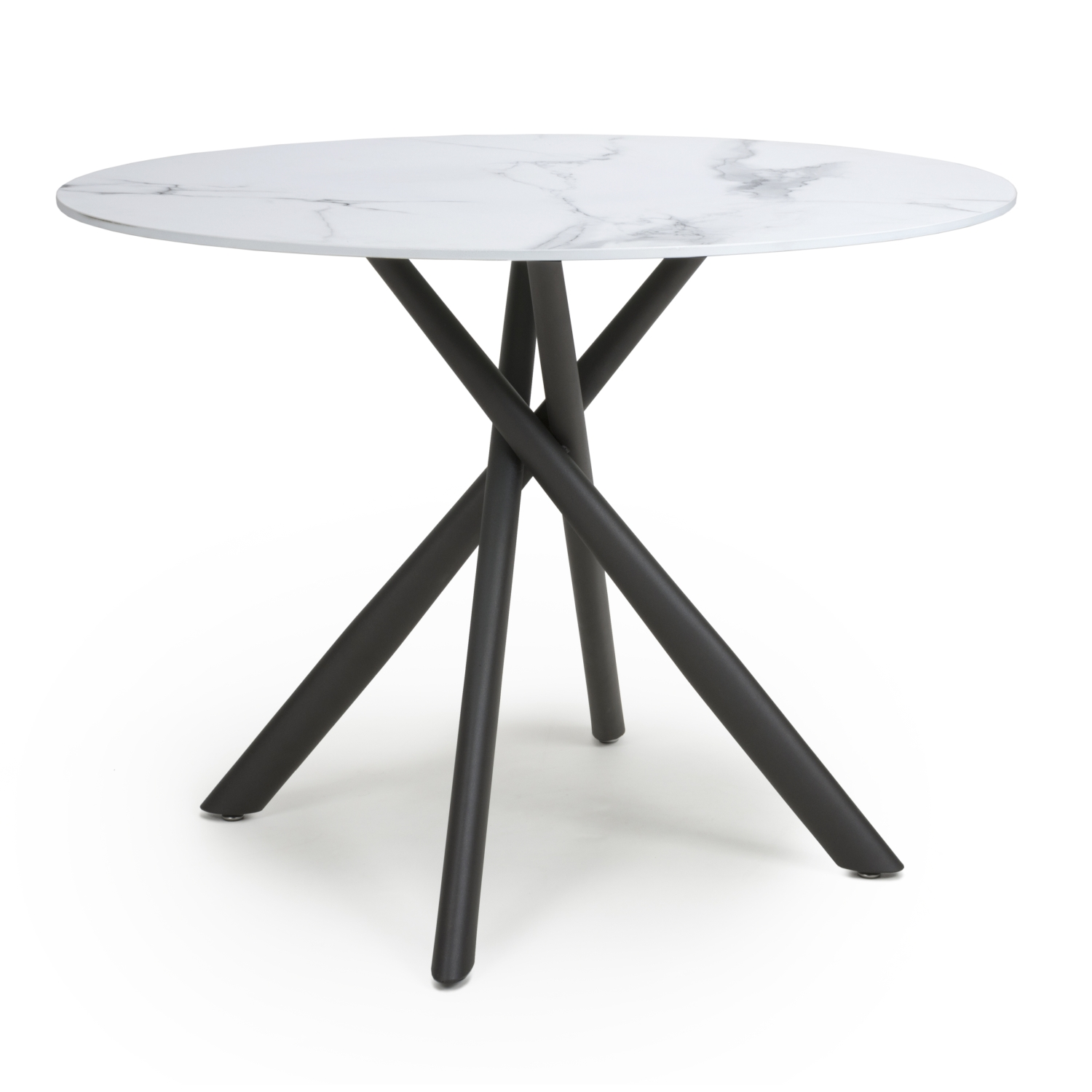 Avensis White Marble 1m Dining Table