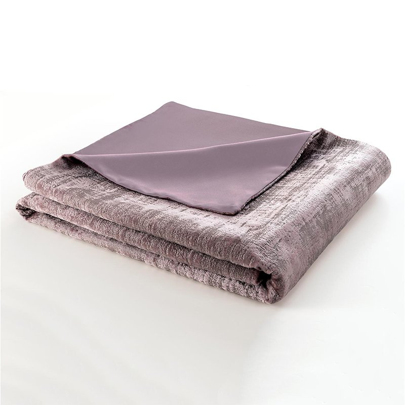 Naples Heather Velvet Lined Throw