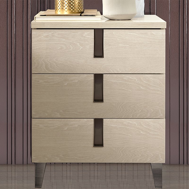 Abrianna Sand Birch Small 3 Drawer Chest of Drawers
