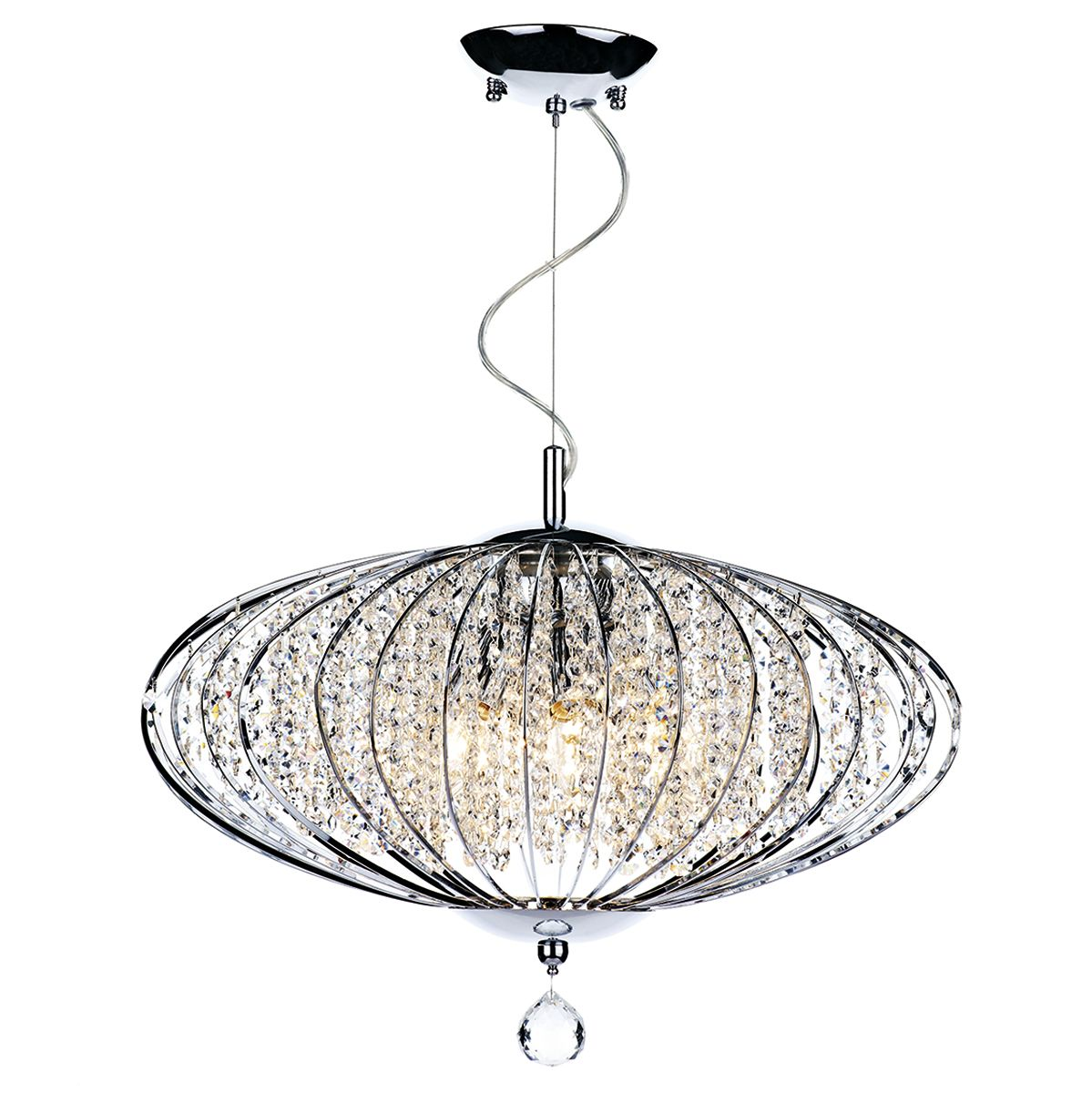 Adriatic 5 Bulb Polished Chrome Pendant Light