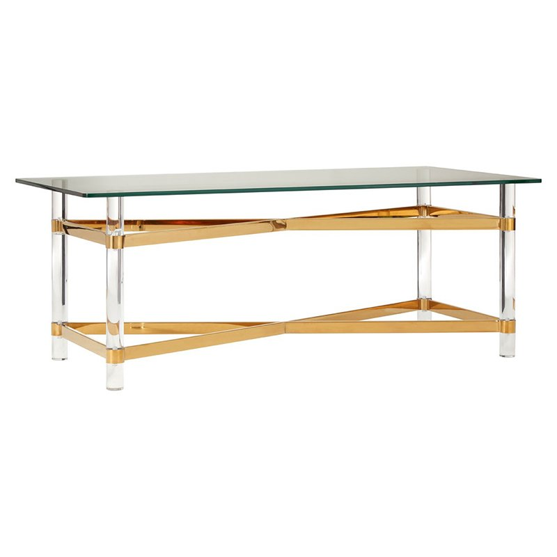 Clarence Glass Gold Coffee Table