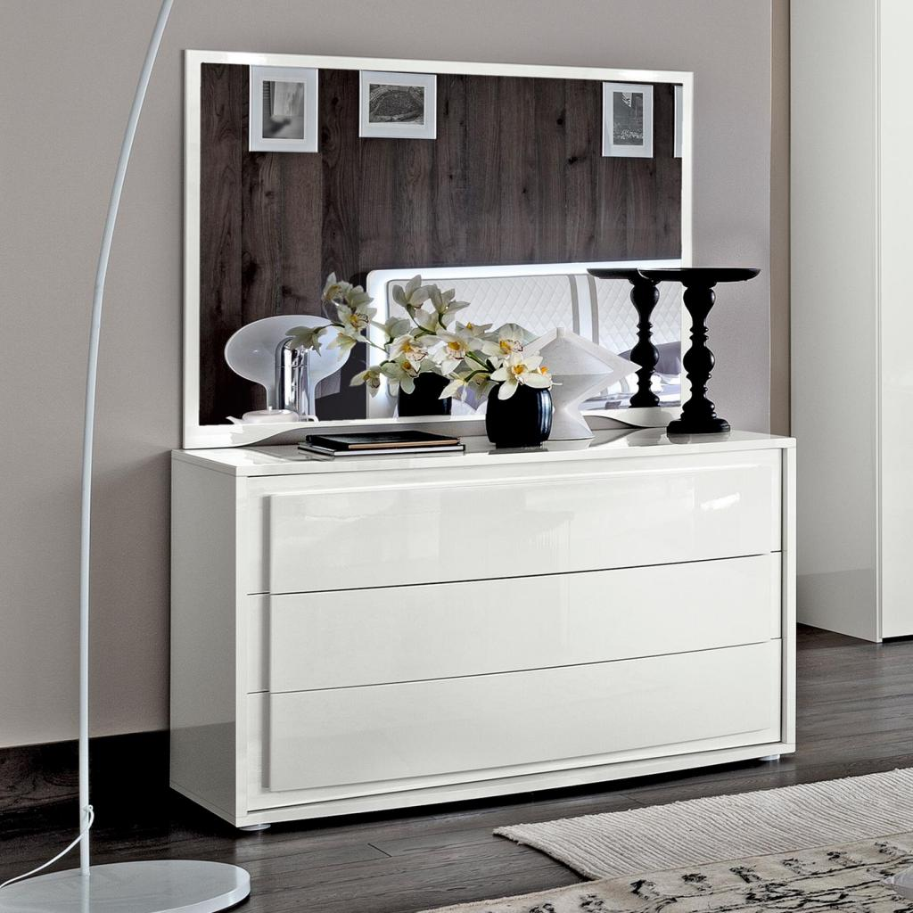 Bianca White High Gloss 3 Drawer Chest of Drawers