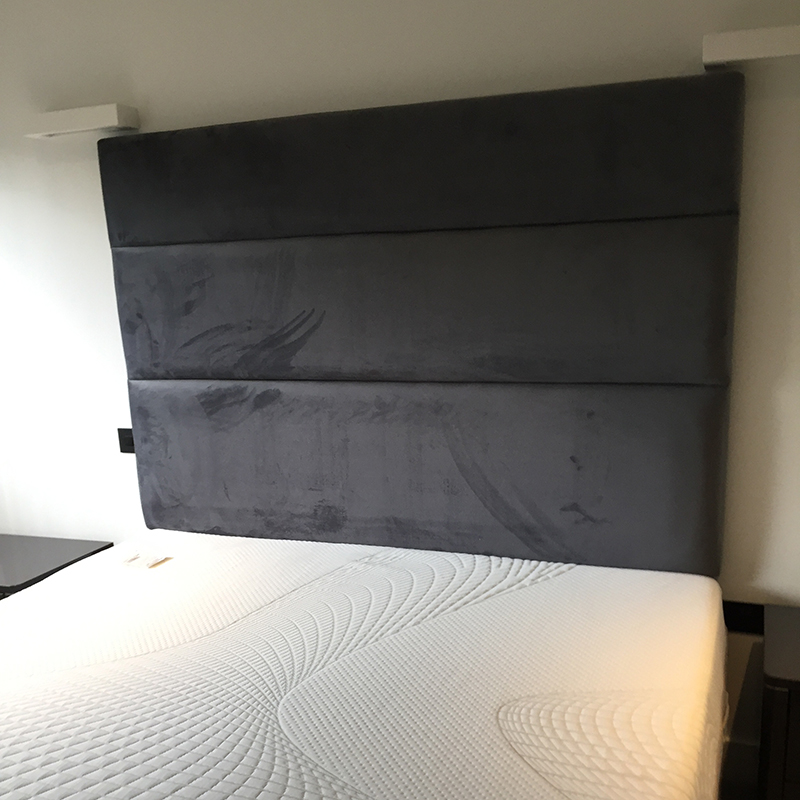 Bespoke Square Black Velvet Headboard