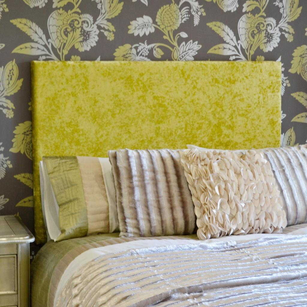 Bespoke Imperial Lime Crushed Velvet Headboard (Various Options)