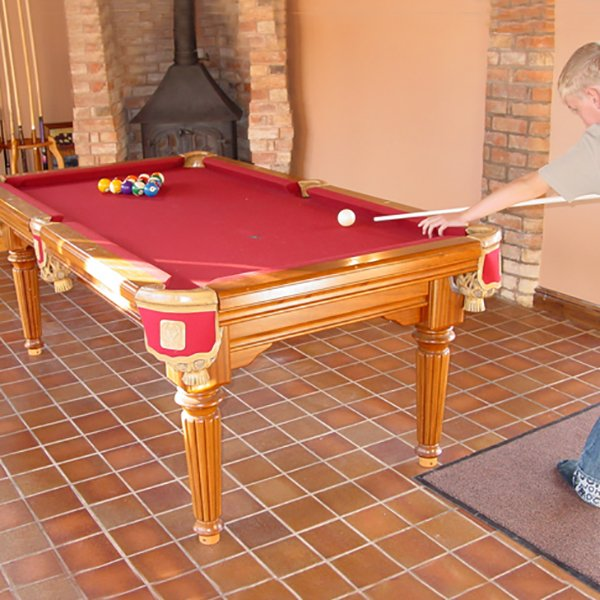 Vienna 6ft Solid Hardwood Pool Entertainment Dining Table