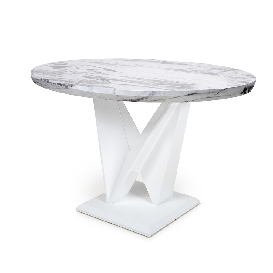 Serena Grey Marble 1m Dining Table