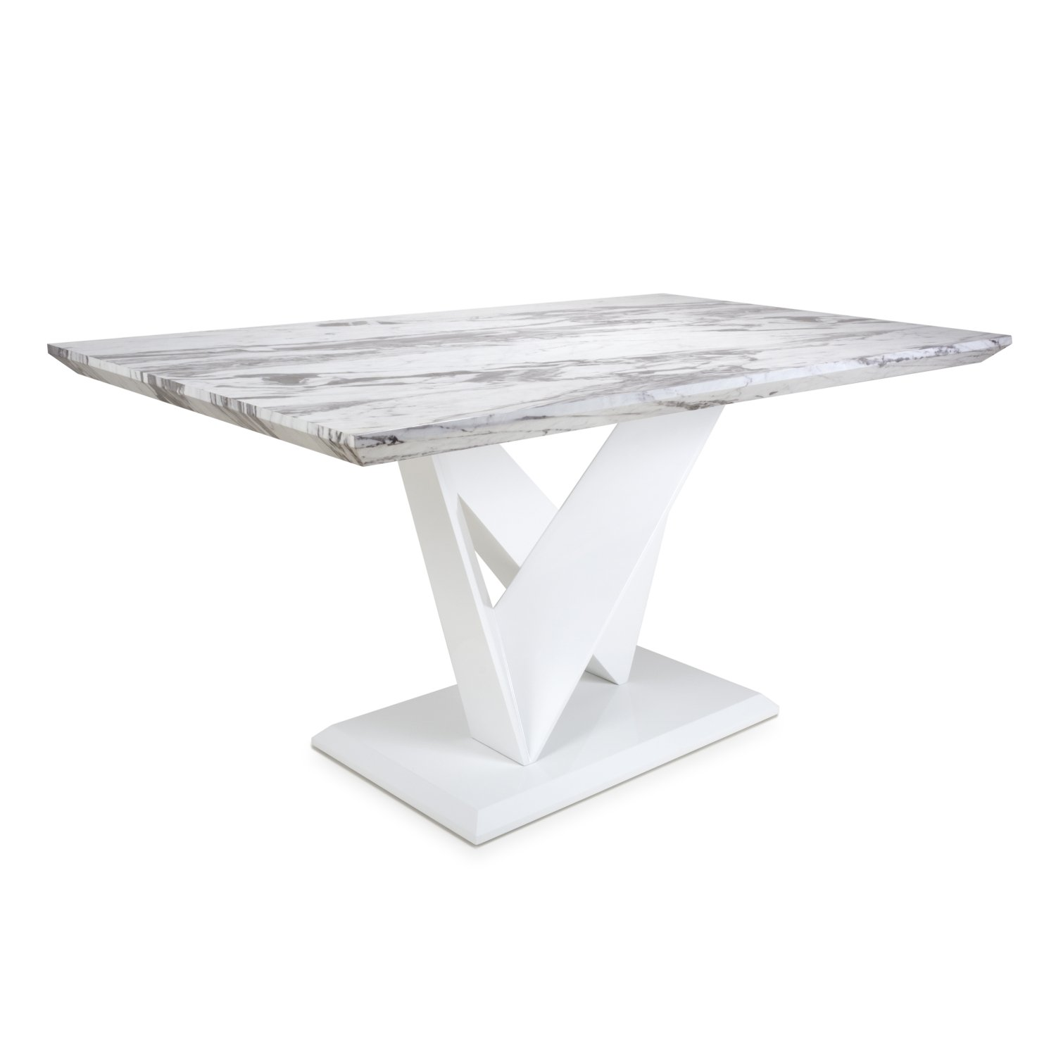 Serena Medium Marble Effect Top 1.5m Dining Table