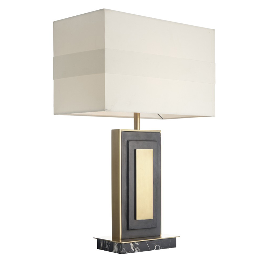 Halie Marble & Antique Brass Table Lamp