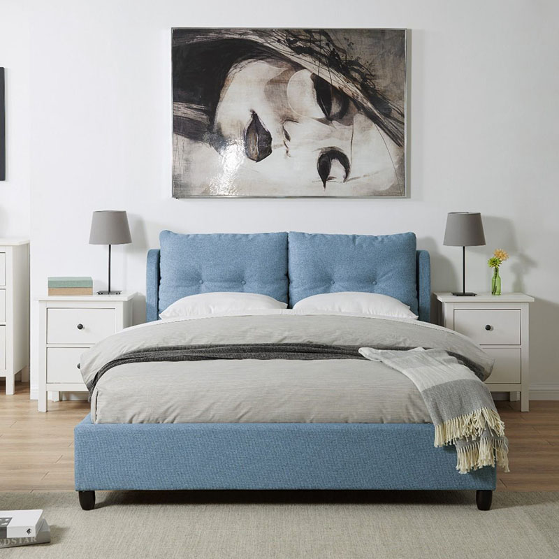 Oslo Blue Upholstered Bed (4ft6 or 5ft)