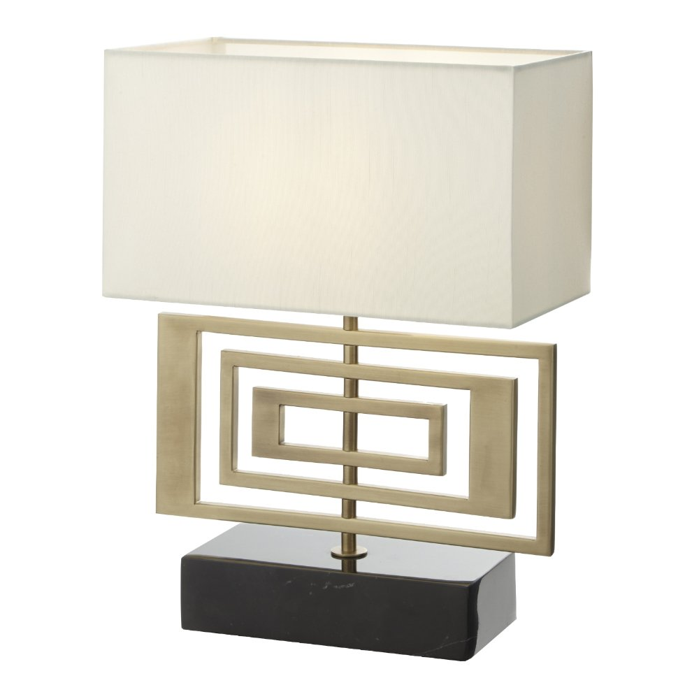 Derry Antique Brass & Marble Table Lamp