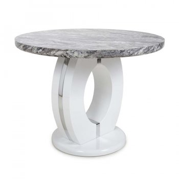Nepal Grey Marble 1m Dining Table