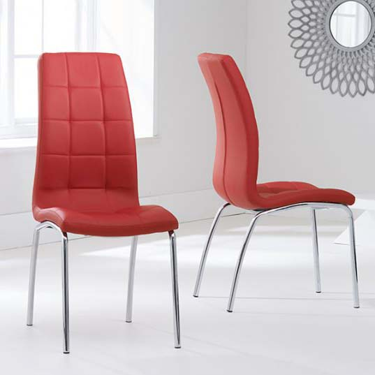 California Red Faux Leather Dining Chair