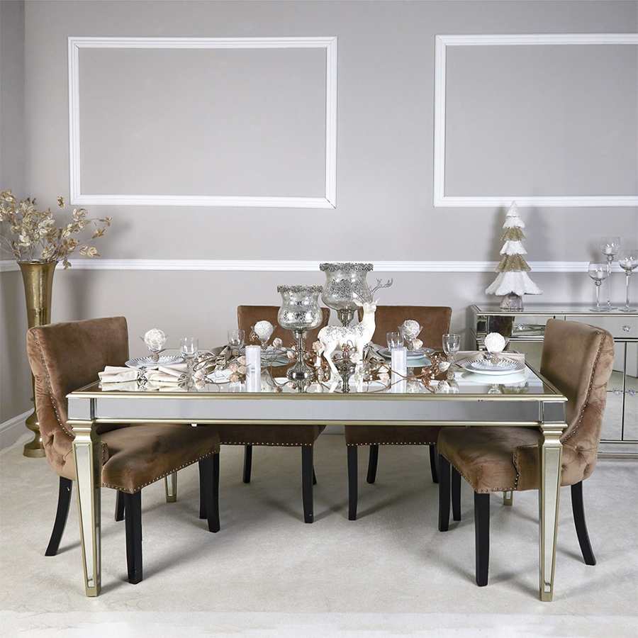 Andreas Gold Trim 1.8m Dining Table