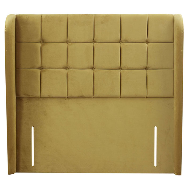 Charisma Buttoned Winged Headboard - Various Colours & Sizes