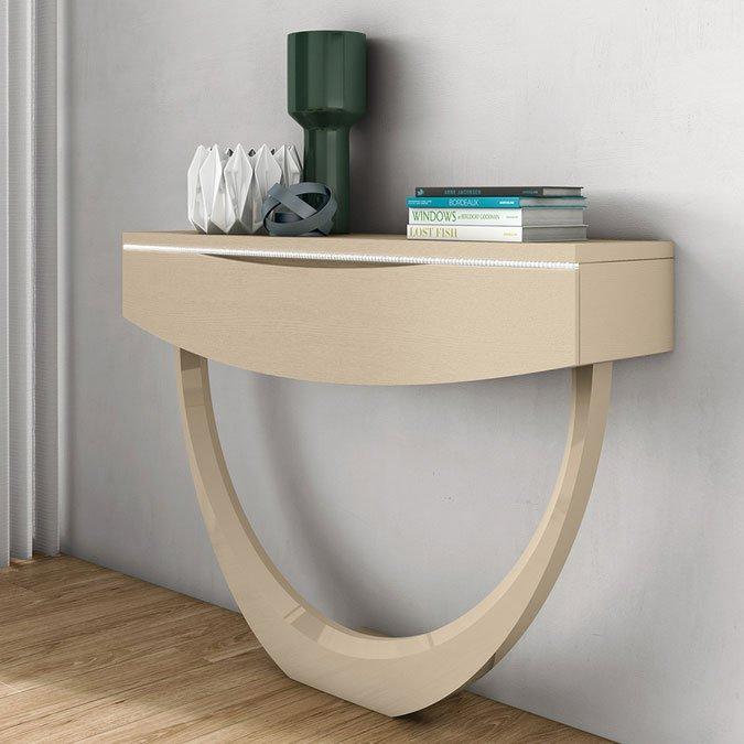 Elite High Gloss or Wood Veneer Console Table