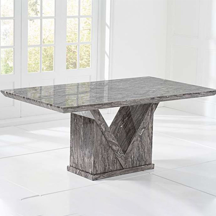 Minsk Grey Marble 1.6m Dining Table