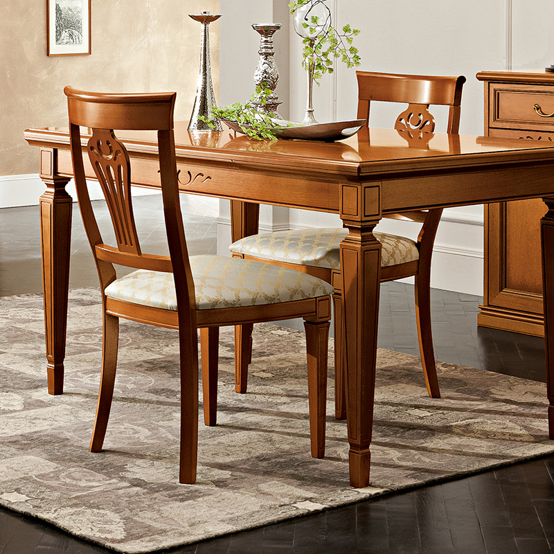 Natalia Walnut Upholstered Carver Dining Chair