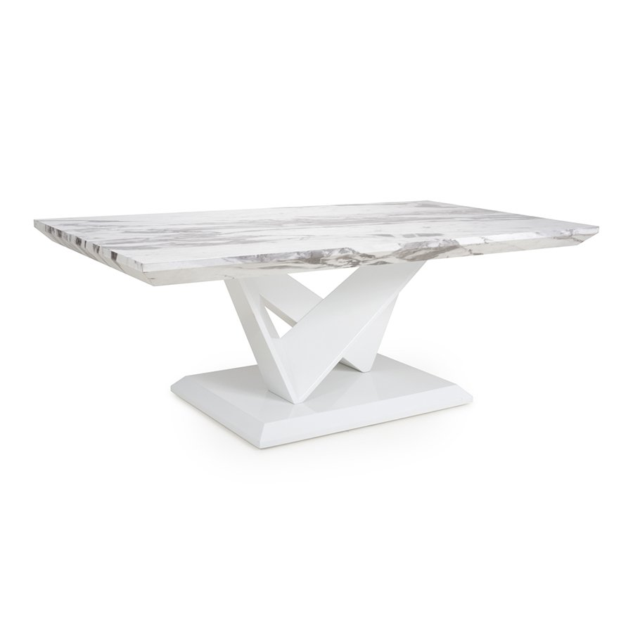 Serena Marble Effect Top Coffee Table