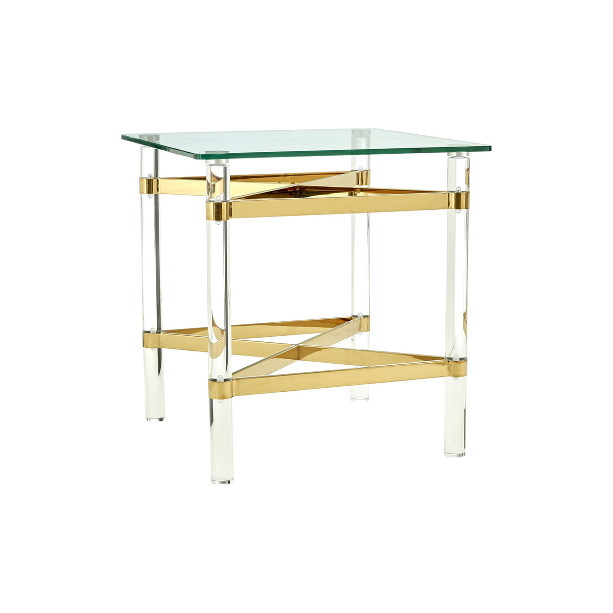 Clarence Glass Gold Lamp Table