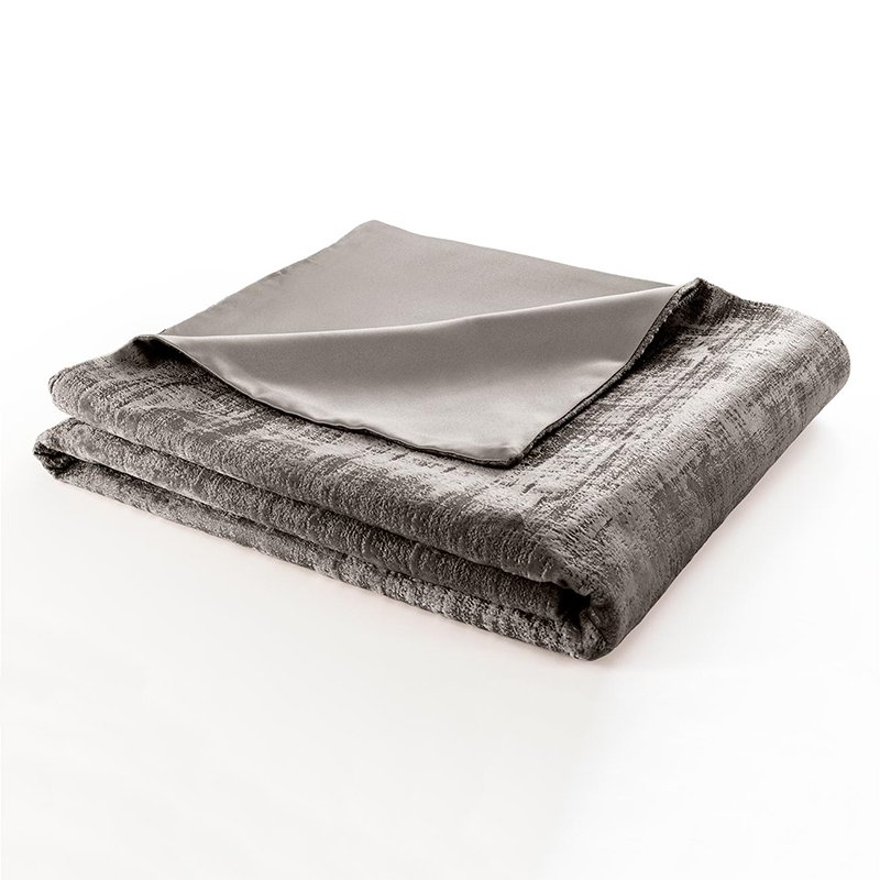 Naples Taupe Velvet Lined Throw
