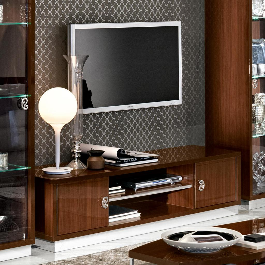 Caligula Italian Walnut High Gloss TV Cabinet