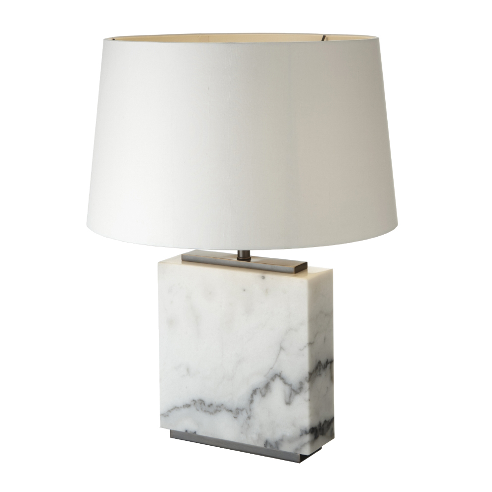 White Marble Antique Table Lamp - Base Only
