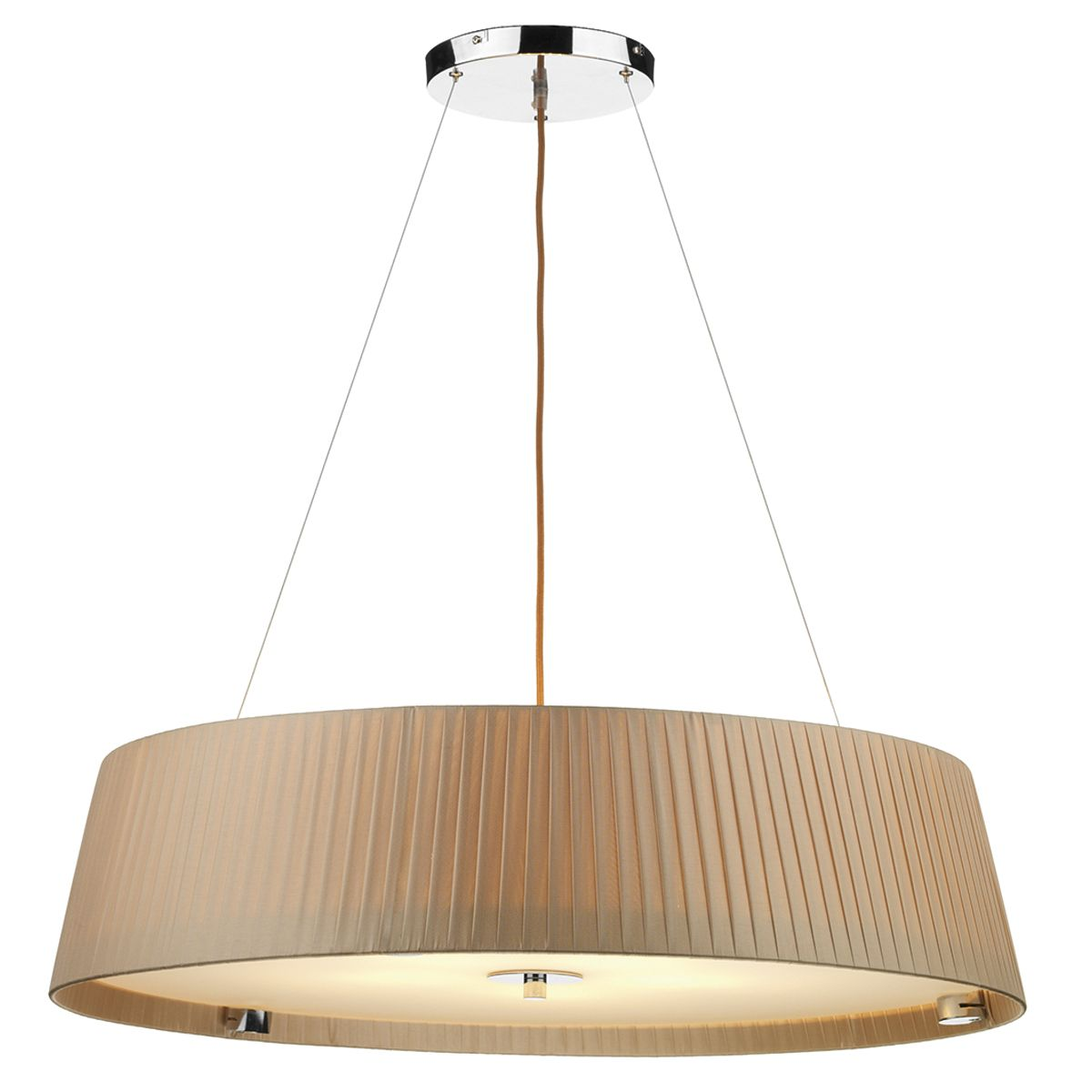 Wheel 5 Bulb Slimline 80cm Taupe Pendant Light