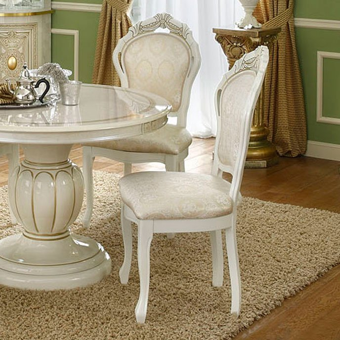 Varazze Ornate Gold & Ivory Dining Chair