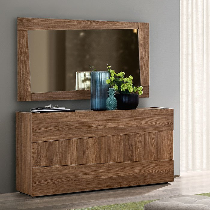 Sicily Elm Wood 3 Drawer Chest of Drawers
