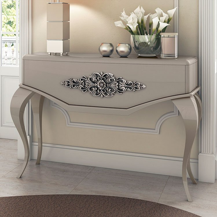 Monaco Large High Gloss Console Table
