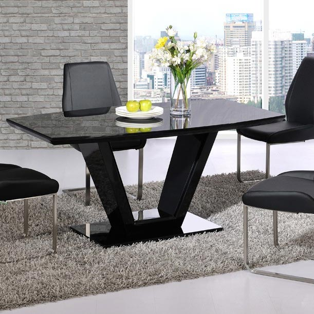 Valera High Gloss 1.6m Dining Table (Various Colours)