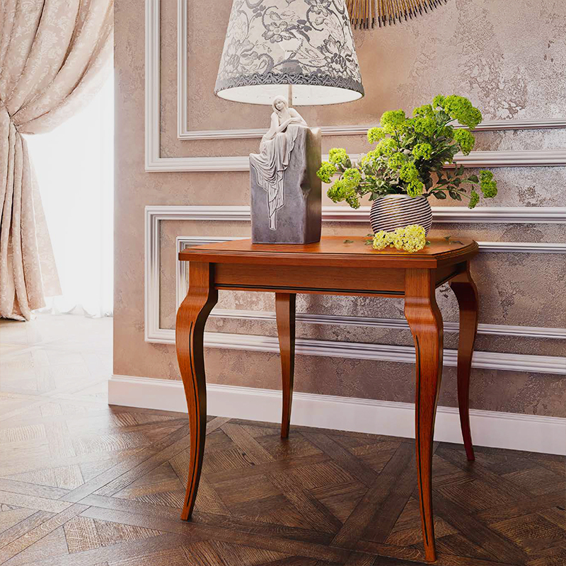 Fabrina Walnut Lamp Table